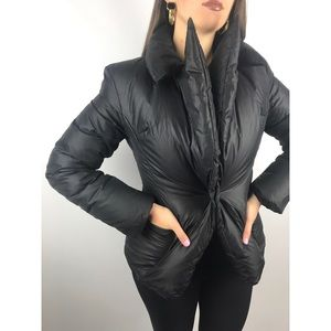 HACHE runway Italy black abstract puffer jacket